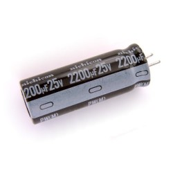 CONDENSADOR 2200 MF 25 V. 105º