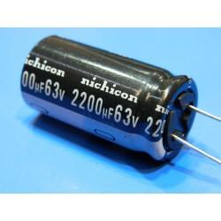 CONDENSADOR 2200/63 V. 105º ELECTOL.