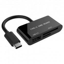 LECTOR DE TARJETAS USB TIPO-C UHB-CR3-02