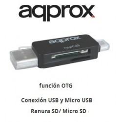 LECTOR TARJETA USB / MICRO USB OTG