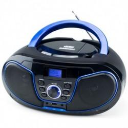 Radio CD DAEWO DBU62BL, negro/azul