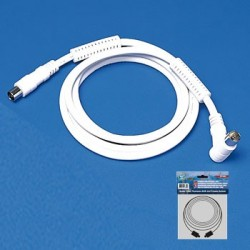 CABLE TV MACHO-HEMBRA CON FILTRO BLANCO 1,5M .