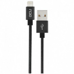 CABLE USB-MFI IPHONE 5/6/7 NEGRO 1M.