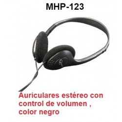 AURICULARES ESTEREO CON CONTROL DE VOLUMEN MHP-123