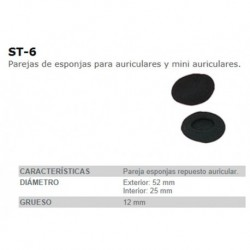 PAREJA ESPONJAS AURICULAR FONESTAR ST6