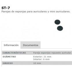 PAREJA ESPONJAS AURICULAR FONESTAR ST7