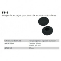 ESPONJA AURICULAR FONESTAR ST8