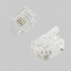 CONECTOR TELEFONO RJ11 4 VIAS 6P4C