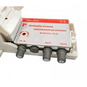 AMPLIFICADOR INTERIOR 5G 20DB VHF-UHF