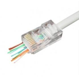 CONECTOR RJ45 8P8C CAT.5e UTP CRIMPAR Y CORTAR