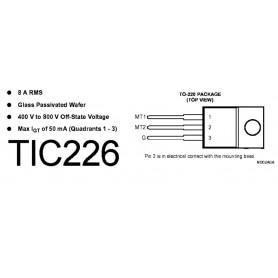 TRIAC TIC-226 M 8 A 500 V