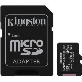 TARJETA MICRO SD 64GB+ADAPT. KINGSTON CANVAS C.10