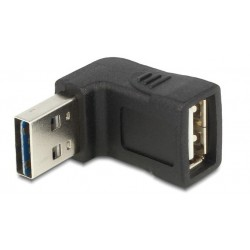 ADAPTADOR HDMI MACHO - HEMBRA ACODADO DELOCK 65521