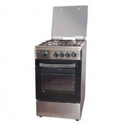 Cocina 4 fuegos 50x55 cm gas butano, cocina inox
