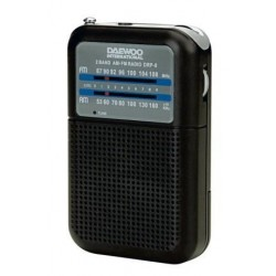 Radio analógica Daewoo DRP8N, AM / FM, Altavoz inc