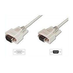 CABLE SERIE DB9 MACHO-HEMBRA 2M.