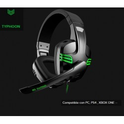 AURICULARES PC COMPATIBLES PS4 TYPHOON BG GAMING