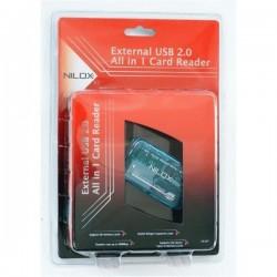 LECTOR MEMORIA FLAS 19 EN 1, USB 2.0 COL