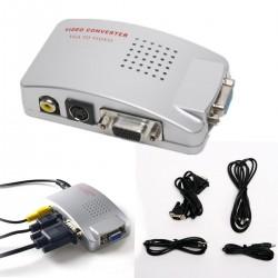 CONVERTIDOR PC A TV VGA A RCA