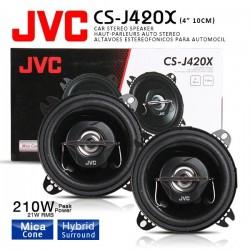 CS-J420X Pareja Altavoces JVC 10 cm 2 Vías Sin Rejilla 210 W