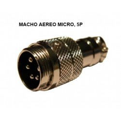 CONECTOR MICRO MACHO 5P AEREO