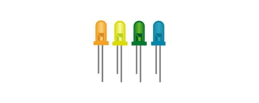COMPONENTES ELECTRONICOS SEMICONDUCTORES DIODOS Y DISPLAY LEDS